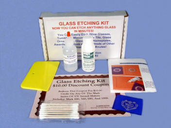 Glass Etching Kit - Starter Package.
