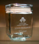 Medium Clear Glass Canister